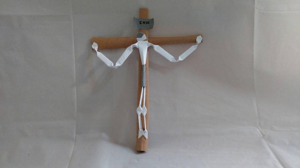 Origami Jesus On The Cross By Whitewolfwithredeyes On Deviantart
