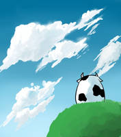 The Heaven Gazing Cow by feeshseagullmine