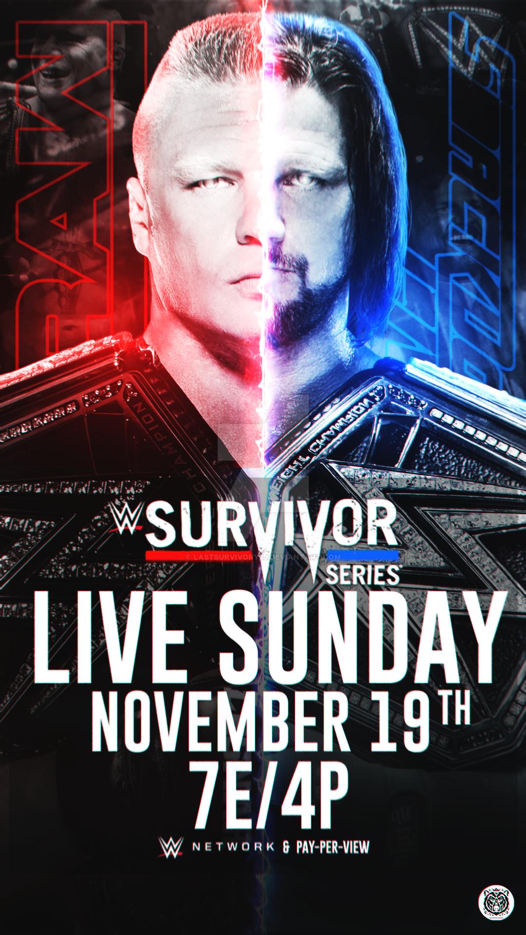 Survivor Series 2017 Custom Poster by LastSurvivorY2J