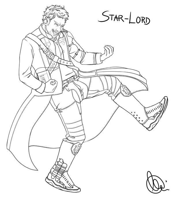 Star Lord Disney Infinity Coloring Page Coloring Pages