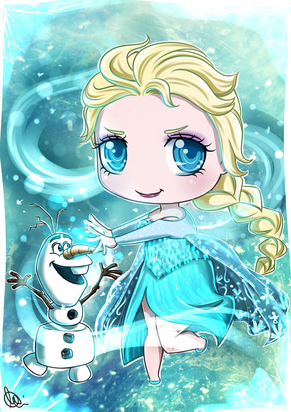 Chibi Elsa by Daeshagoddess