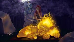 Bonfire Kitty by ImRachelBradley