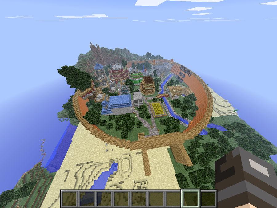 minecraft maps naruto is village by gumwin390 on DeviantArt