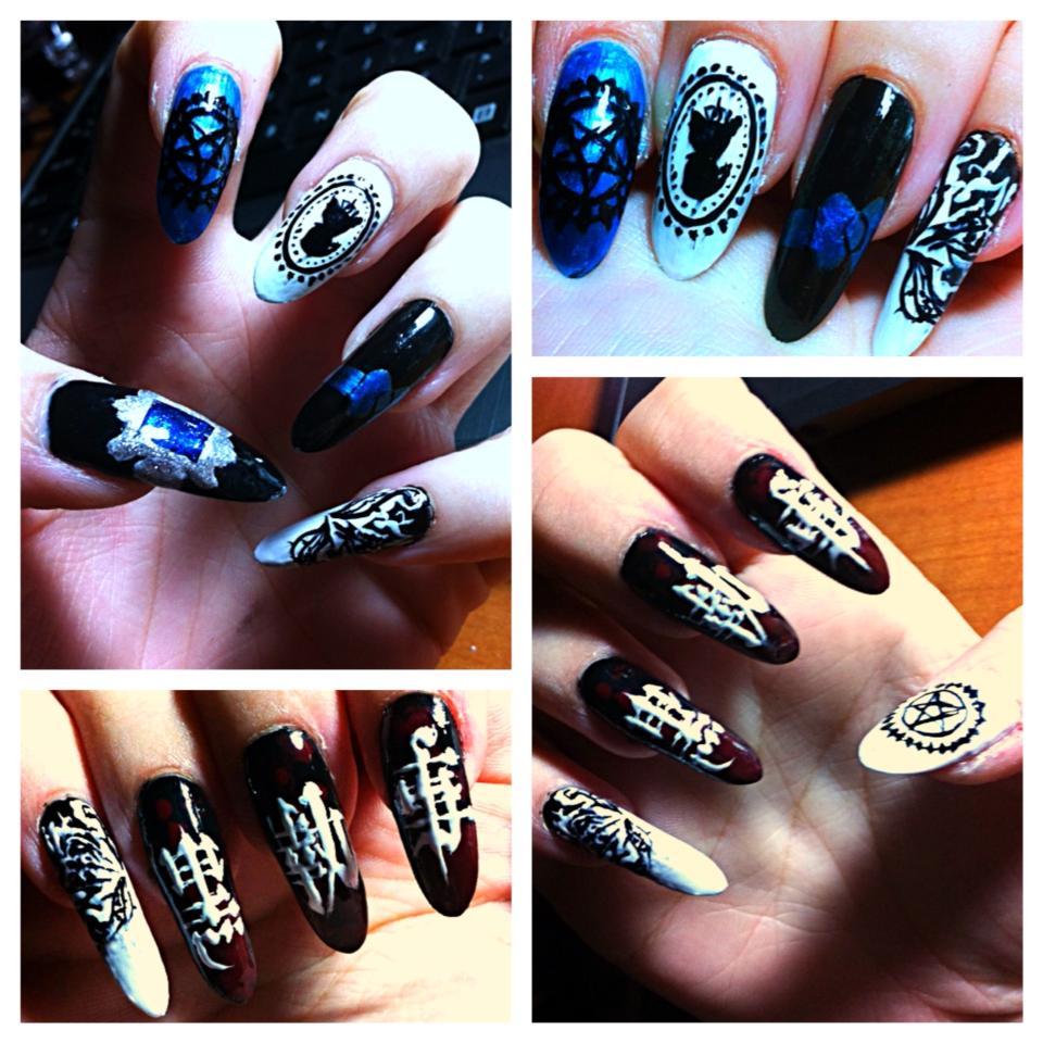 Black Butler Nail Art