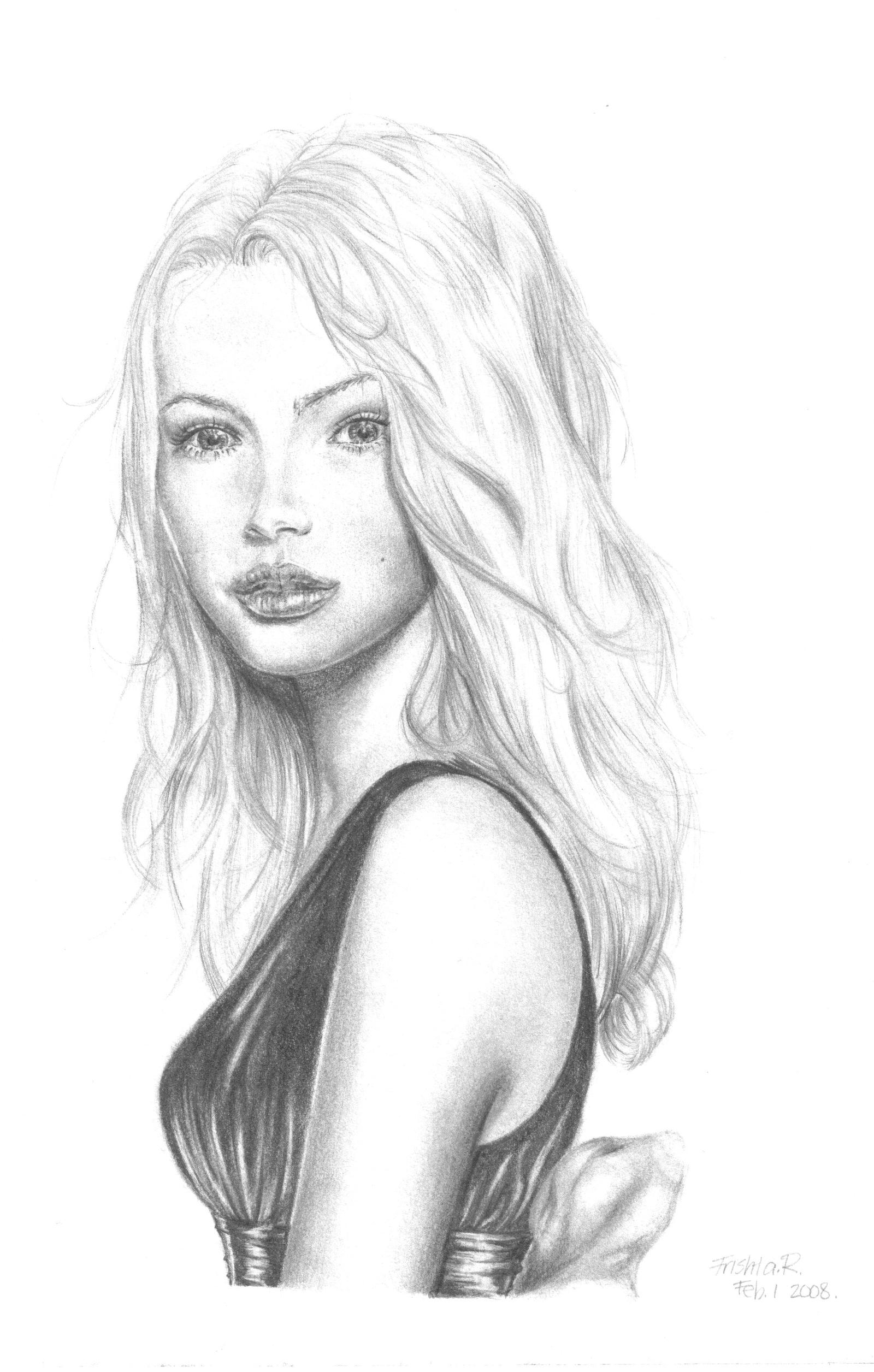 Drawing model pencil by teh best foxey