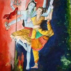 Shiv and Parvati by RiyaBorah