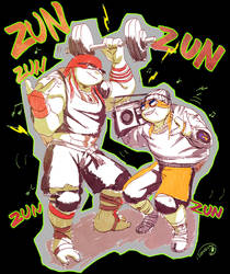 Raph and Mikey by tamaume