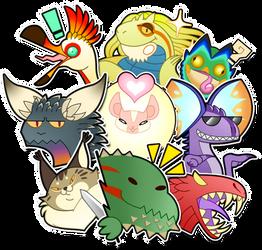 Monster Hunter sticker pack
