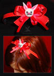 Red bunny hairband by MissAnnThropia