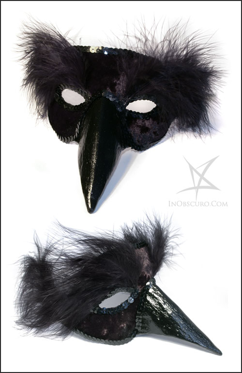 Black bird venetian mask by MissAnnThropia