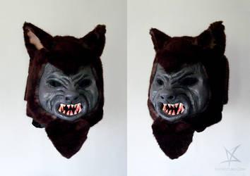 Werewolf mask by MissAnnThropia