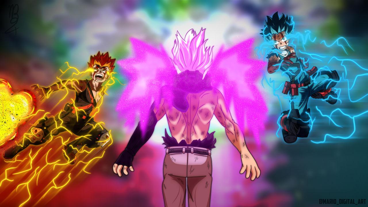 Boku No Hero Academia Deku And Bakugo Vs Nine By Mariodigitaldesign On Deviantart