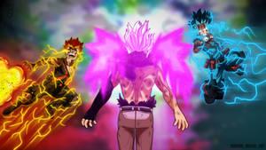 Boku no hero academia Deku and Bakugo VS Nine