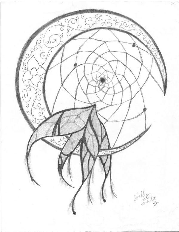 Dream catcher by stella126 on deviantart for Dreamcatcher tattoo template