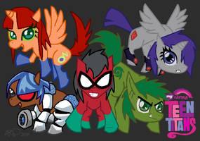 MLP: FiM - Teen Titans by Tobisagoodboi