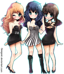 Pokemon Girls : Night Club by DarienDoodles