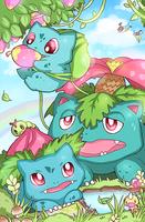 Pokefamily Vacation : Bulbasaur by DarienDoodles