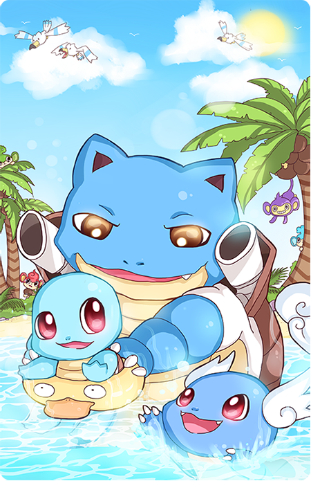 Pokefamily Vacation : Squirtle by Geegeet