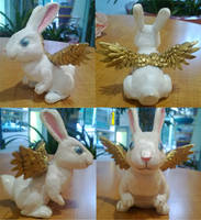 Rabbit Sculpture by sleepyotter