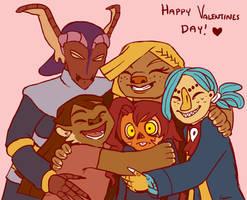 Group Hug (V-day 2014) by sleepyotter