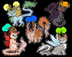 Fairy Cats by sleepyotter