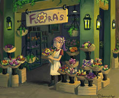 Flowershop by sleepyotter