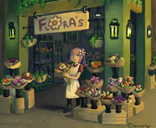 Flowershop by sleepyotter
