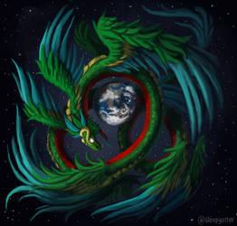 Quetzalcoatl by sleepyotter