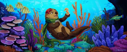 Underwater Otter