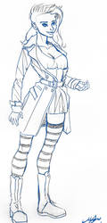 Kassie Hobbes Sketch by DoctorRocket