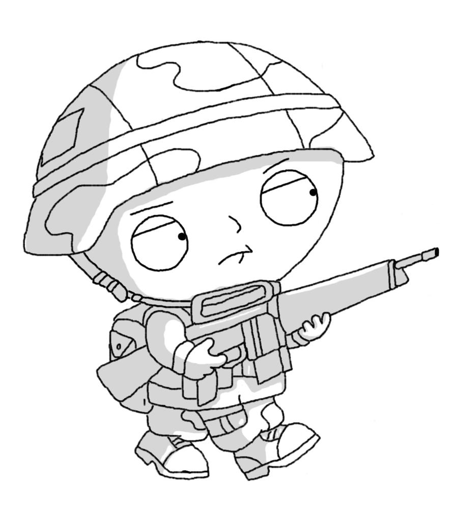 gangsta coloring pages - gangster stewie pages coloring pages
