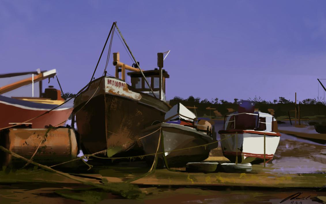 Boats speedpaint by MichalReznicek