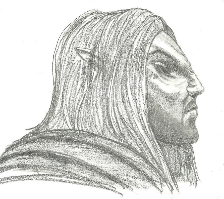 Sketch of Erandur 3 - Studying his profile by fancybirdy