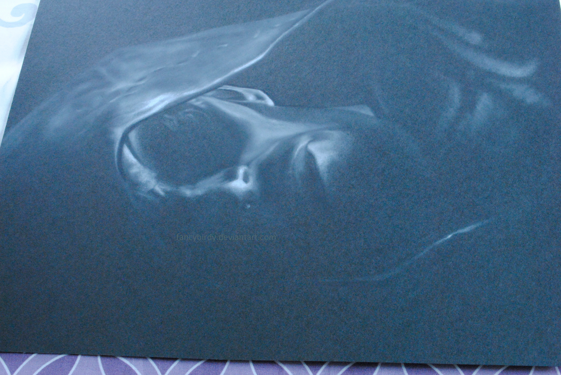Charcoal drawings are hard to photograph by fancybirdy