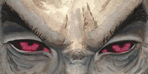 Dunmer Eyes- Watercolor Sketch of Talvas