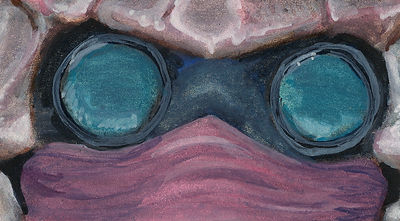 Dunmer Eyes- Watercolor Sketch of Teldryn Sero