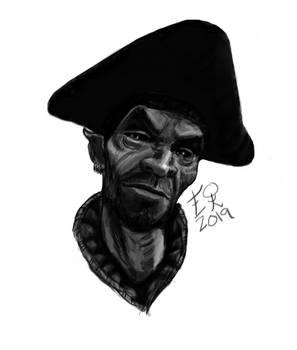 Portrait of Ralis Sedarys (First Digital Drawing)