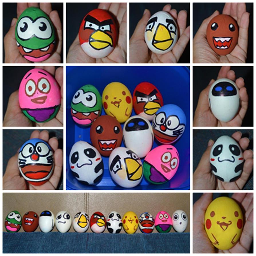 cute easter eggs by leviosagal