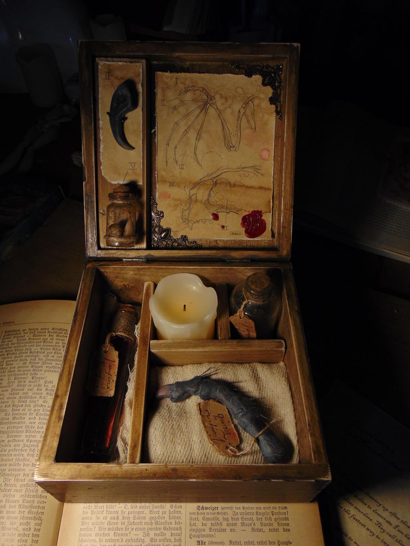 Vampire Monster Specimen Curio Box (OOAK) Handmade by BurnedRavenTales