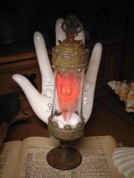 Phoenix Feather Specimen Jar by BurnedRavenTales