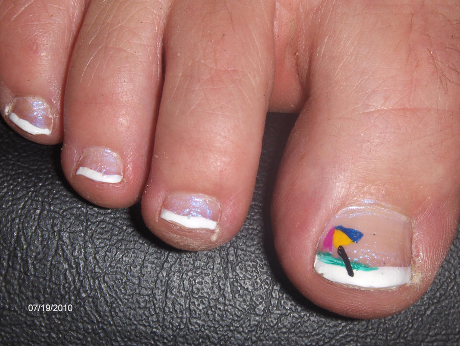 Nail Art: Beach Umbrella tips by Mermann87 on DeviantArt
