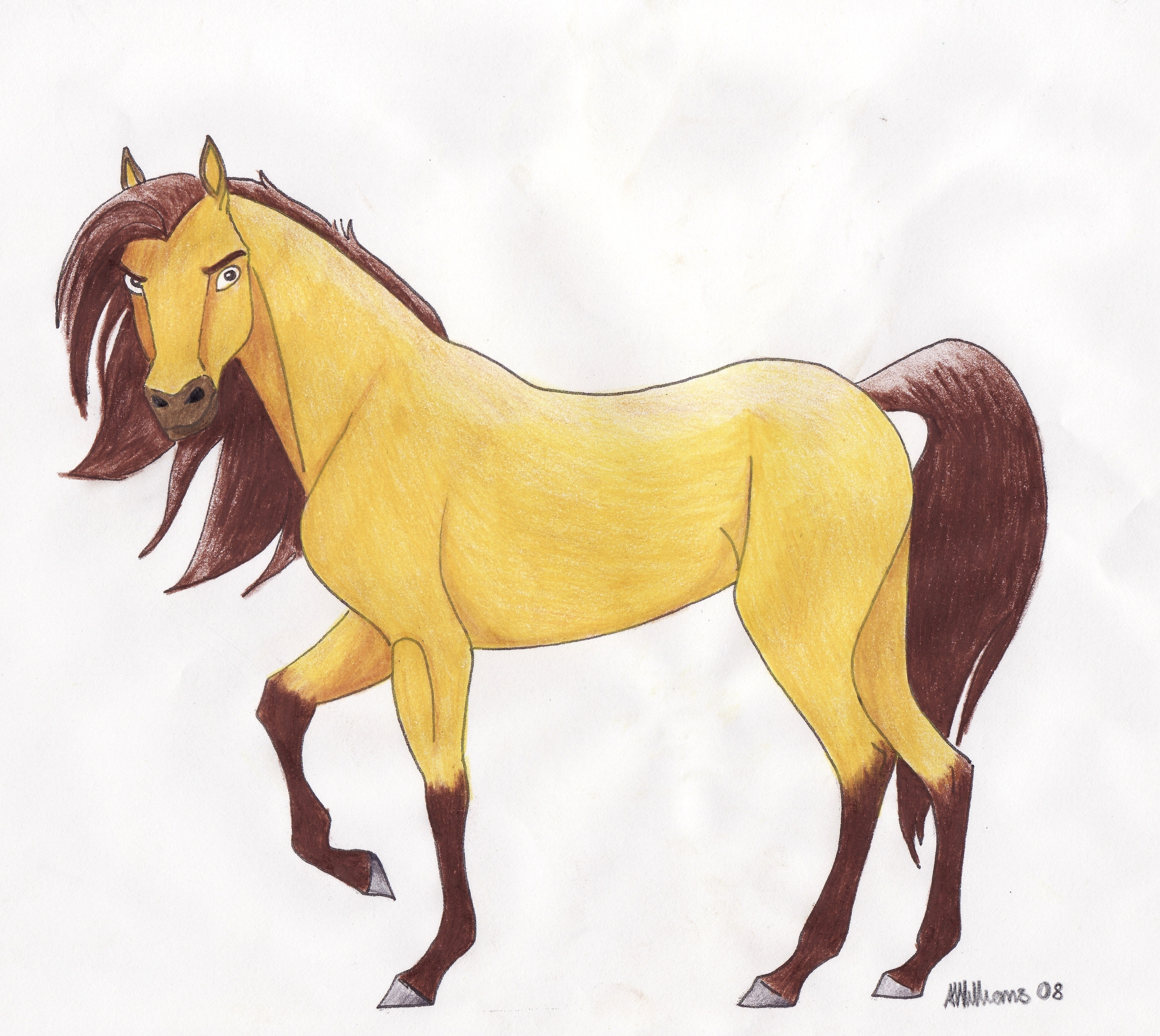 Spirit The Horse Drawings