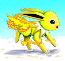 Jolteon use Flame wheel by Pand-ASS