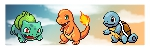 kanto starters by Pand-ASS