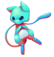 Shiny mew by Pand-ASS