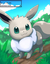 a wild eevee appears by Pand-ASS