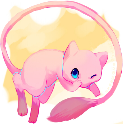 Mew speedpaint by Pand-ASS