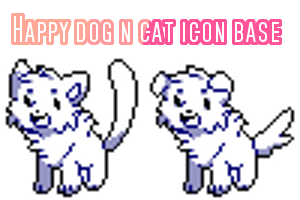 Happy Dog N Cat icon base by Pand-ASS