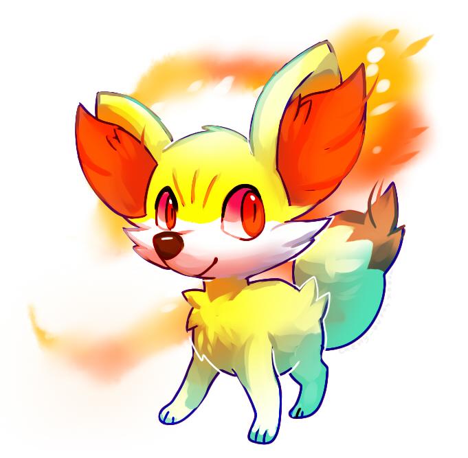 New pokemon Fennekin by Pand-ASS