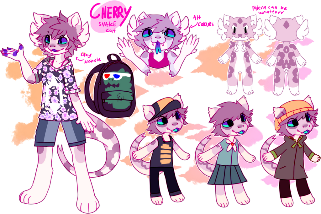 Cherry anthro ref by Pand-ASS
